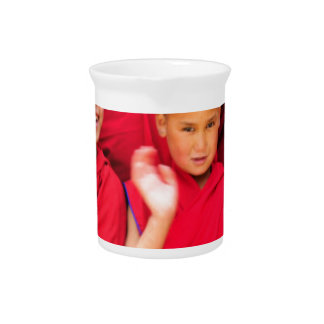Little Monks in Red Robes Pitcher