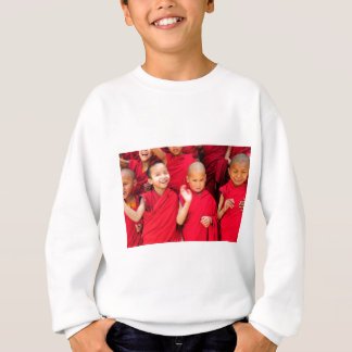 Little Monks in Red Robes Sweatshirt