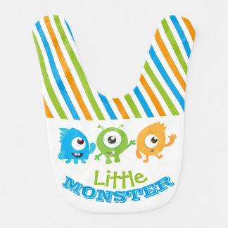 Little monster baby bib, fist birthday outfit bib
