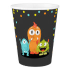 Little Monster Birthday Paper Cup Monster party