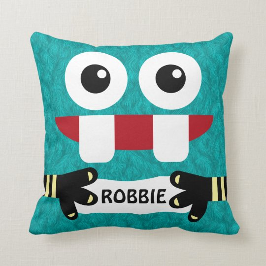 Little Monster Child's Personalized Throw Pillow