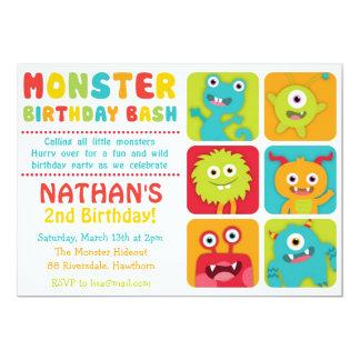 """Little Monster Invitation / Little Monster Invite 5"""" X 7"""" Invitation Card"""