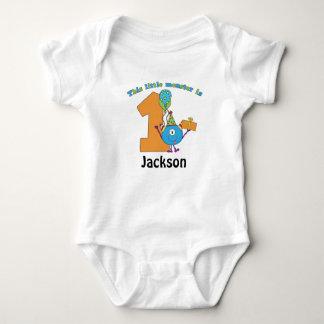 Little Monster Kids 1st Birthday Personalized Baby Bodysuit
