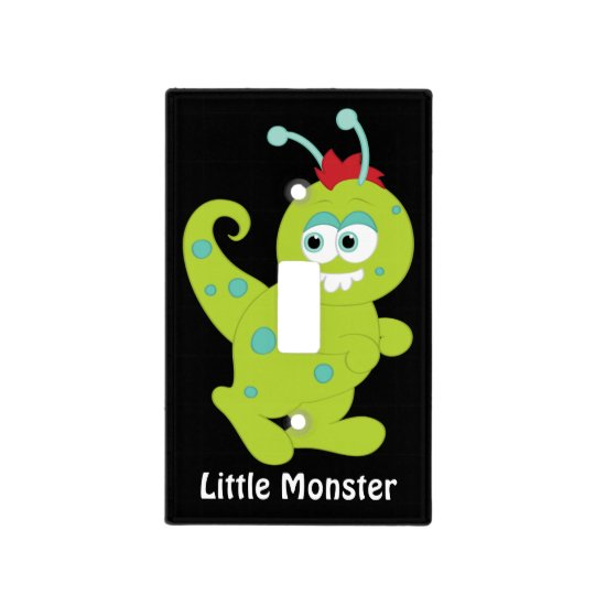 Little Monster kids light switch plate