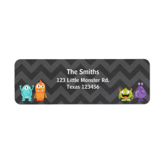 Little Monster Return Address Label