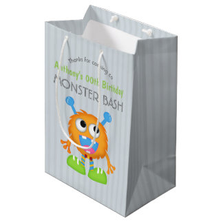 Little Monster themed Birthday Party Guest Favor Medium Gift Bag