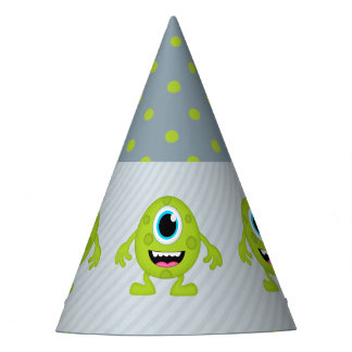 Little Monster themed Birthday Party Party Hat