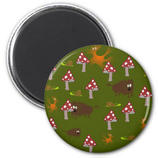 Little monsters 2 inch round magnet