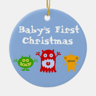 Little Monsters Baby's First Christmas Ornament