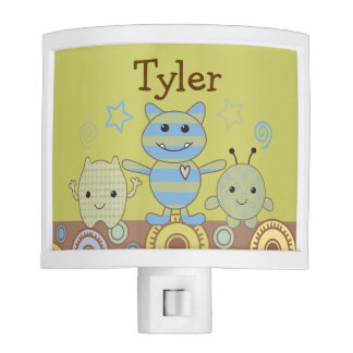 Little Monsters Peeking Baby Nite Light
