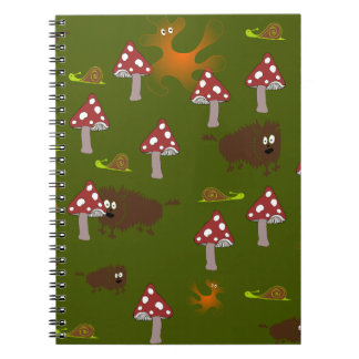 Little monsters spiral notebook