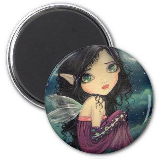 Little Moon Big-Eye Fairy Fantasy Art 2 Inch Round Magnet