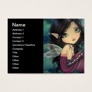 Little Moon Big-Eye Fairy Fantasy Art Business Card