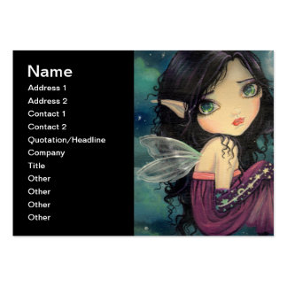 Little Moon Big-Eye Fairy Fantasy Art Large Business Card