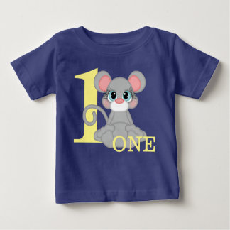 Little Mouse One Year First Birthday Girl Boy Baby T-Shirt