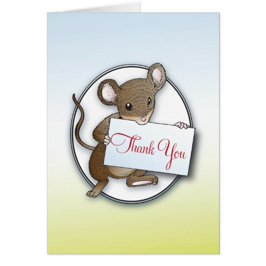 Little Mouse Thank You Card