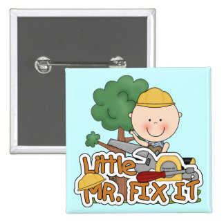 Little Mr Fix It - Saw Tshirts and Gifts Button