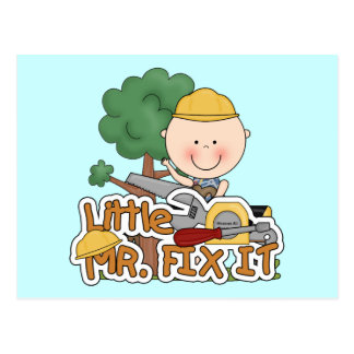 Little Mr. Fix It - Saw Tshirts and Gifts Postcard