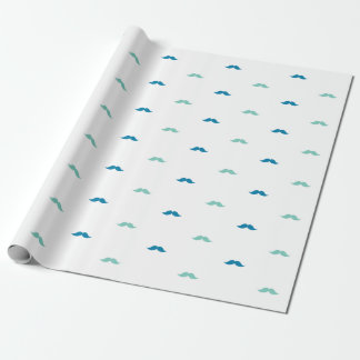 Little Mustache Wrapping Paper