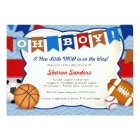 *Little MVP* Sports Themed Baby Shower Invitation