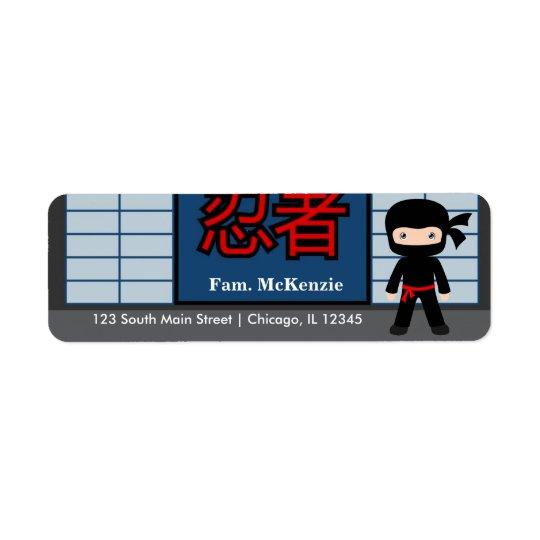 Little Ninja Return Address Label