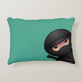 Little Ninja Warrior on Green Accent Pillow