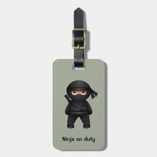 Little Ninja Warrior on Sage Green Bag Tag