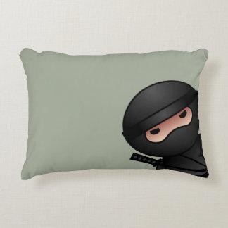 Little Ninja Warrior on Sage Green Decorative Pillow