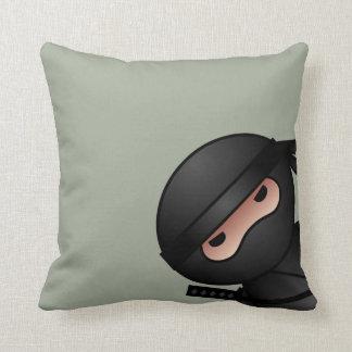 Little Ninja Warrior on Sage Green Throw Pillow