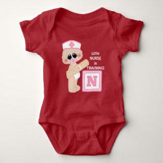 Little Nurse in Training baby girl bodysuit