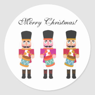 Little Nutcracker Drummer Boy Christmas Stickers
