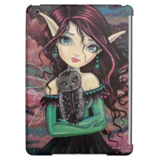 Little Obsidian Owl and Fairy Fantasy Art iPad Air Cases