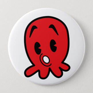 Little Octopus 4 Inch Round Button
