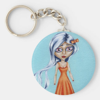 Little Orange Dress Keychain