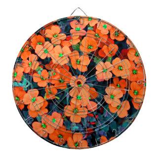 Little Orange Flowers Dartboard