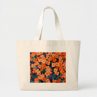 Little Orange Flowers Large Tote Bag
