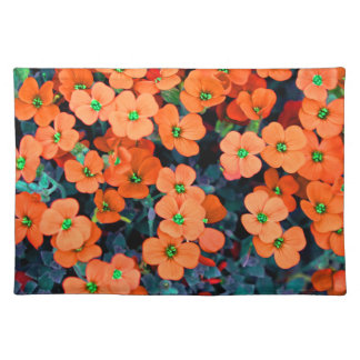 Little Orange Flowers Placemat
