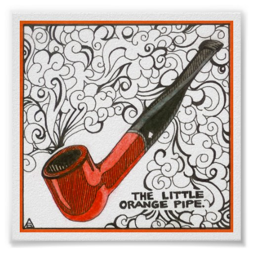 Little Orange Pipe | Customizable Print