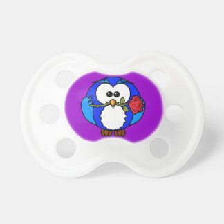 Little Owl and Rose Pacifier