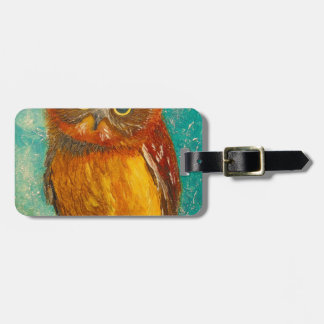 Little owl luggage tag