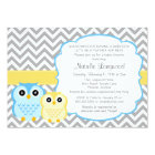 Little Owls Baby Shower Invitation, boy Card