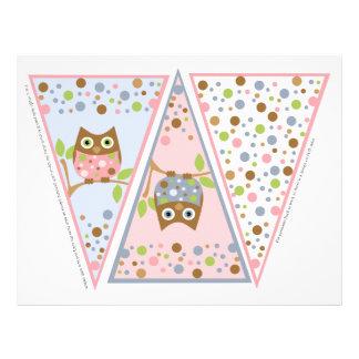 Little Owls Banner Letterhead