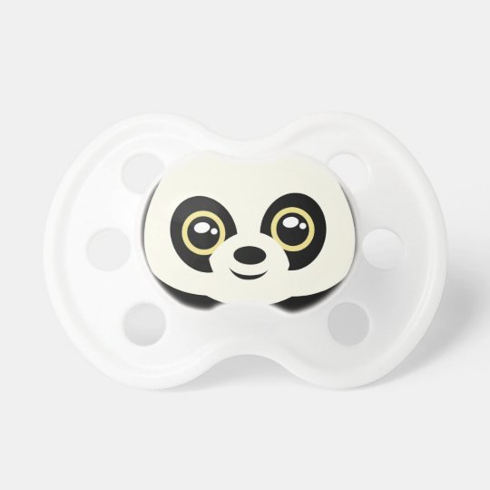 Little panda baby pacifier