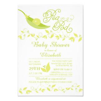 Little Pea In A Pod Baby Shower Invitation