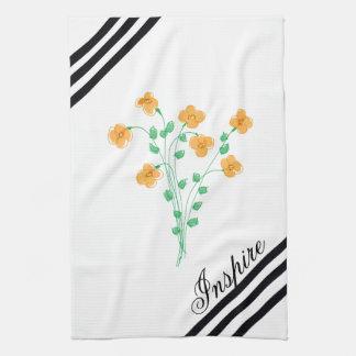 Little Peach Floral Designer Kitchen Towel