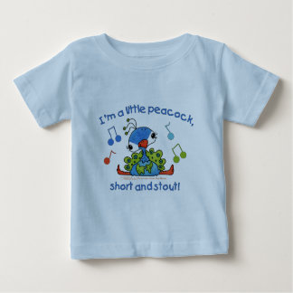 Little Peacock Short and Stout Baby T-Shirt