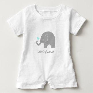 Little Peanut Baby Romper, Blue Heart T-shirt