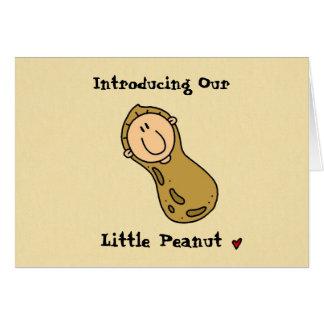 Little Peanut Birth Announcement Greeting Card