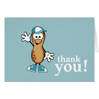 Little Peanut (Blue) Thank You Card Note Card