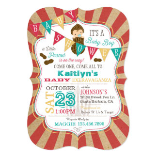 Little Peanut Carnival Baby Shower Invitation